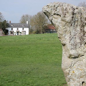 The B&B really is inside the stone circle (Photo courtesy of the property)