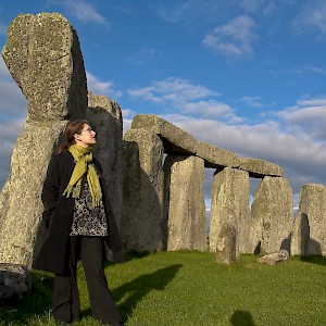 After the tourists leave, you can watch the sunset from inside the stone circle at Stonehenge (Photo © Reid Bramblett)