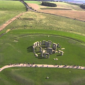 A aerial view of Stonehenge (Photo courtesy of Viator.com)