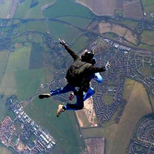 Skydiving over Salisbury and Wiltshire (Photo courtesy of Visit Wiltshire)