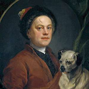 The Painter and his Pug, a 1745 Self-portrait by William Hogarth, at the Tate Britain (Photo by the Tate Britain)