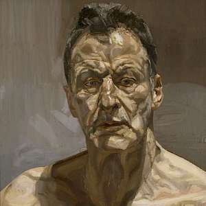 Reflection, a self-portrait (1985) of Lucian Freud (Photo courtesy of the National Portrait Gallery, London)